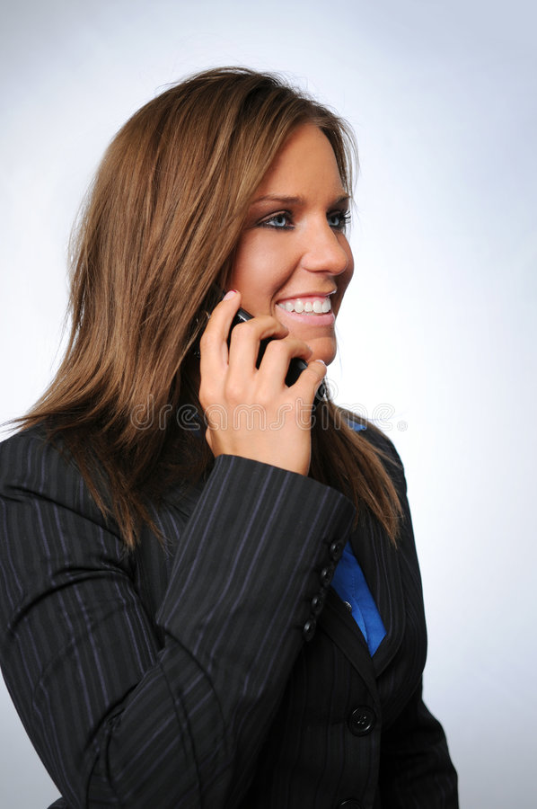 mów telefonu kobiety fotografia stock