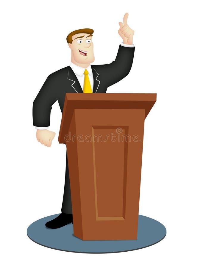 mówca royalty ilustracja