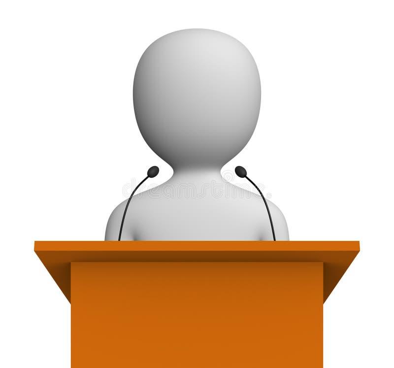 mówca ilustracja wektor