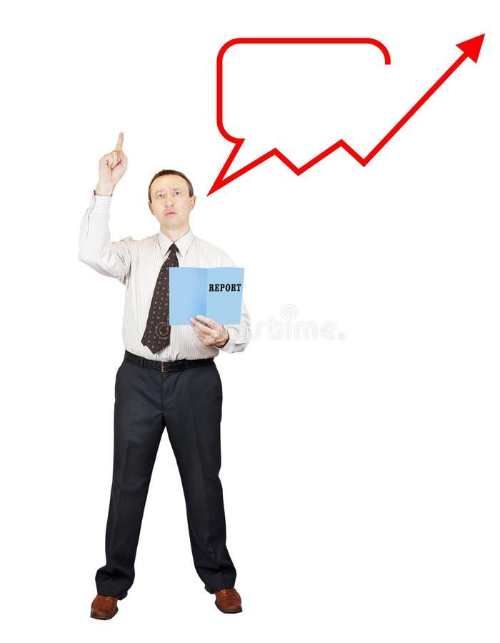 Mówca mówi mowę i wezwania dla stopni wzrostu obrazy stock