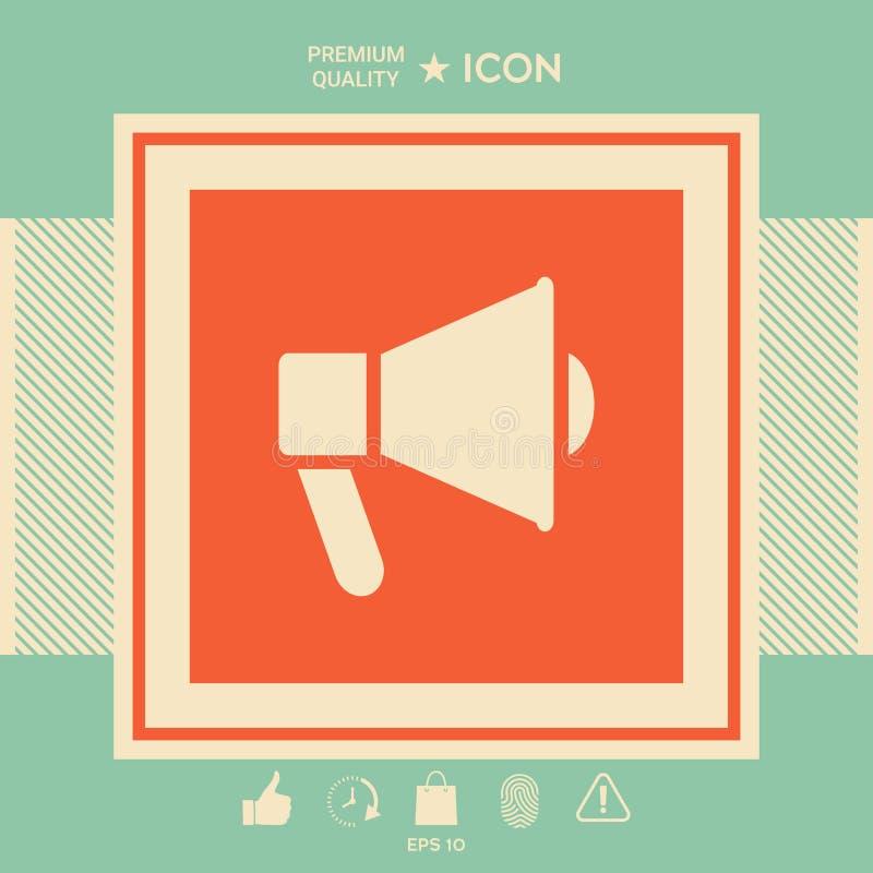 Mówca, megafon ikona ilustracji
