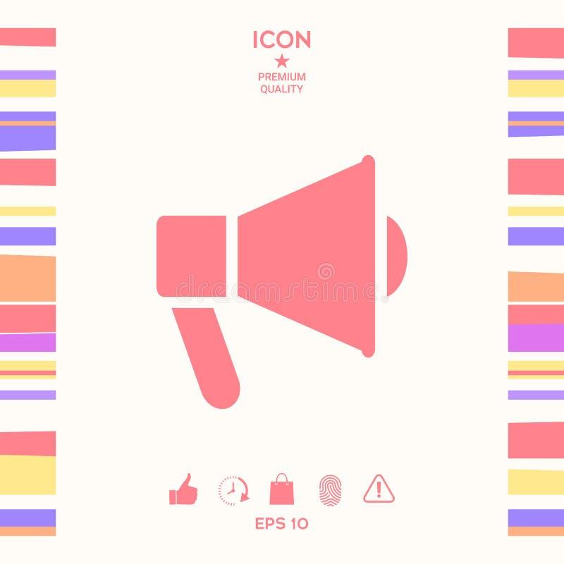 Mówca, megafon ikona royalty ilustracja