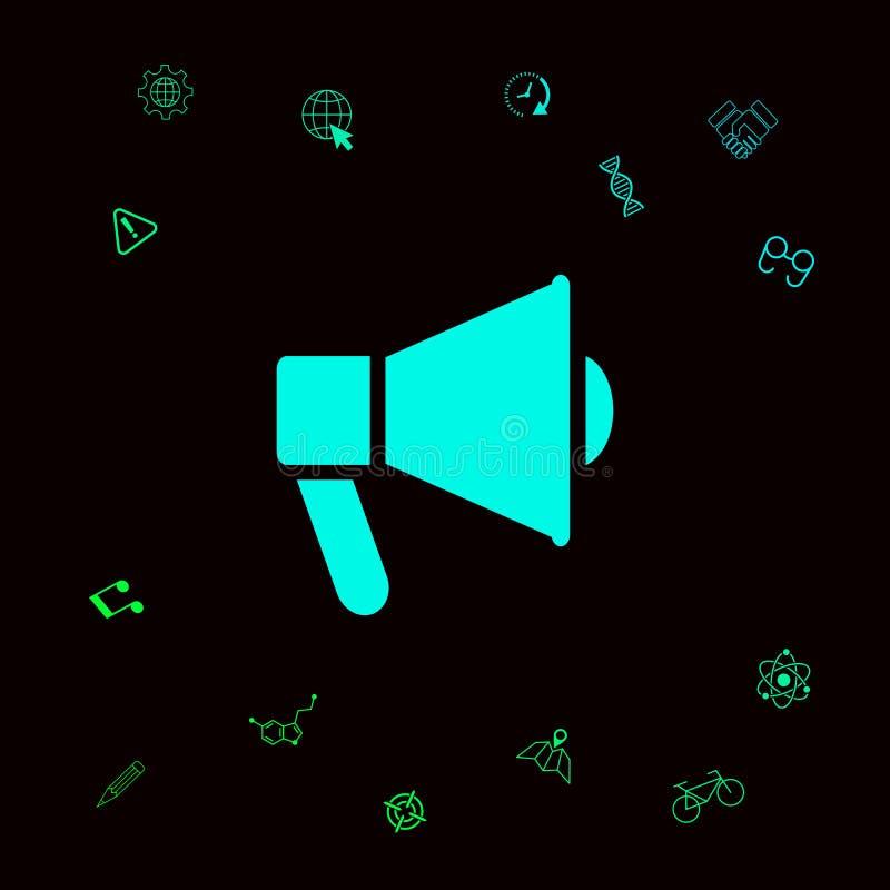 Mówca, megafon ikona Graficzni elementy dla twój designt royalty ilustracja