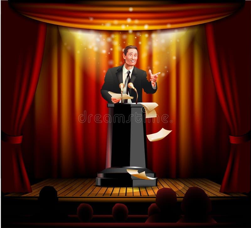 Mówca na scenie obrazy royalty free