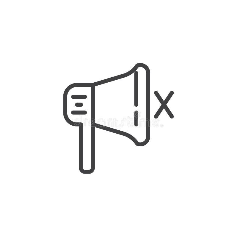Mówca, niema megafon linii ikona ilustracja wektor