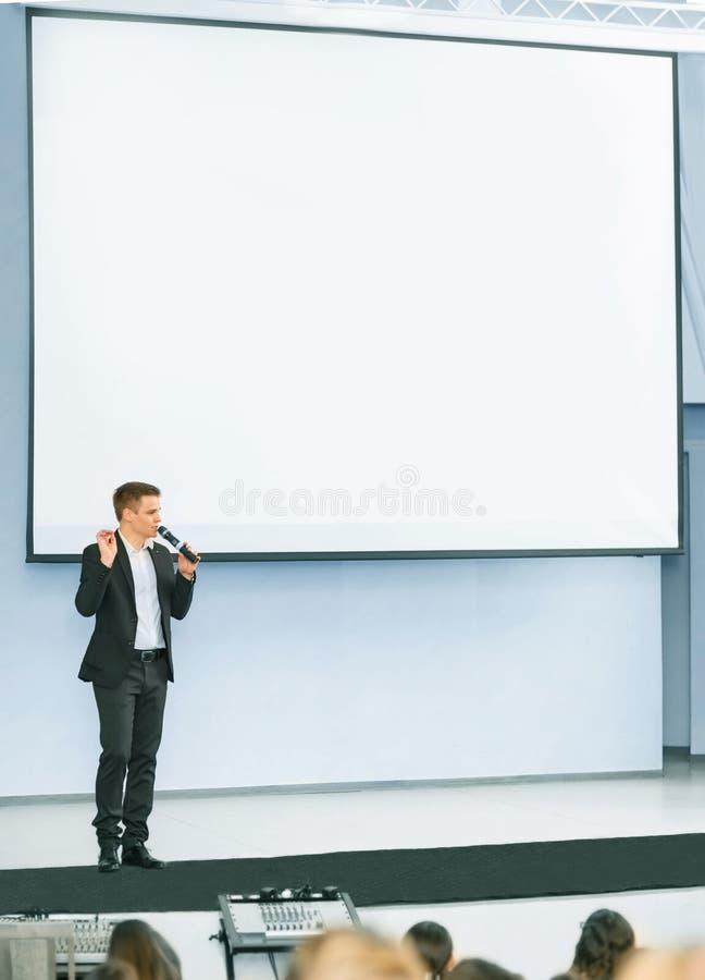 Mówca przy Biznesową konferencją zdjęcie stock