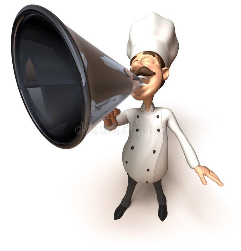 mówca szefa kuchni ilustracja wektor