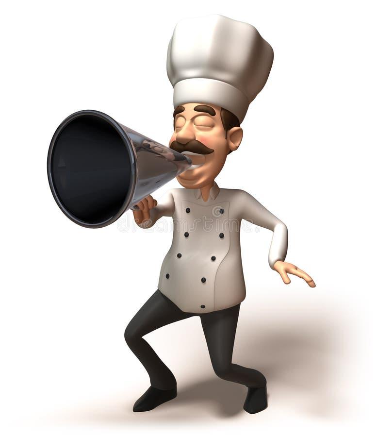 mówca szefa kuchni ilustracji