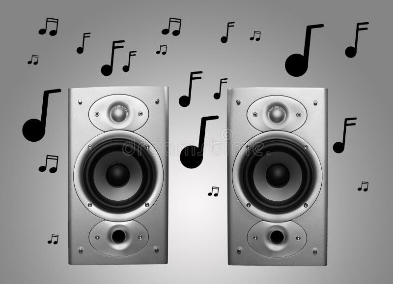 Mówcy i muzyka zdjęcie royalty free