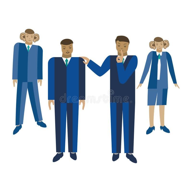 Mówić biznesowego sekretu wektoru ilustrację ilustracja wektor