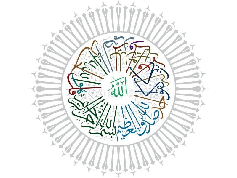 Mówi jest Allah Jedyny royalty ilustracja