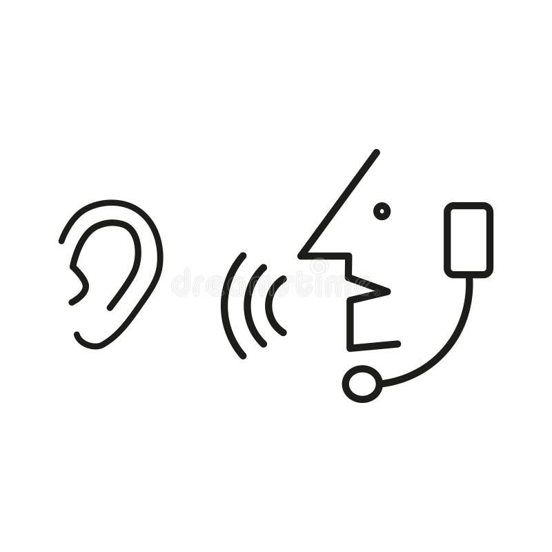 Mówi symbol i słucha royalty ilustracja