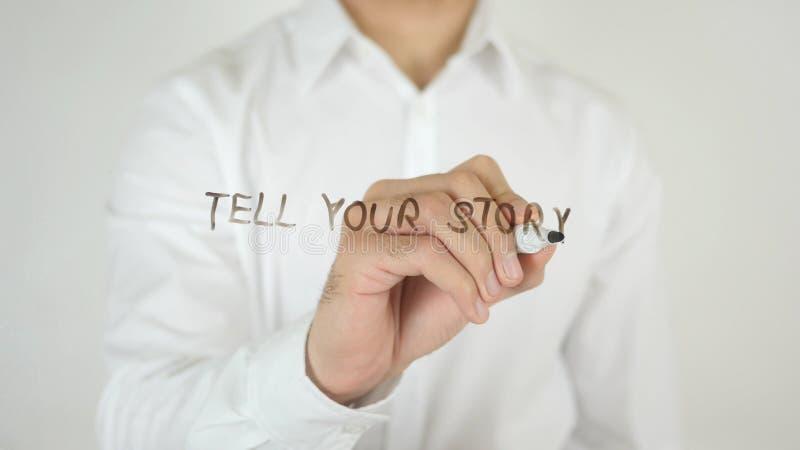 Mówi Twój opowieść, Pisać na szkle zdjęcia stock