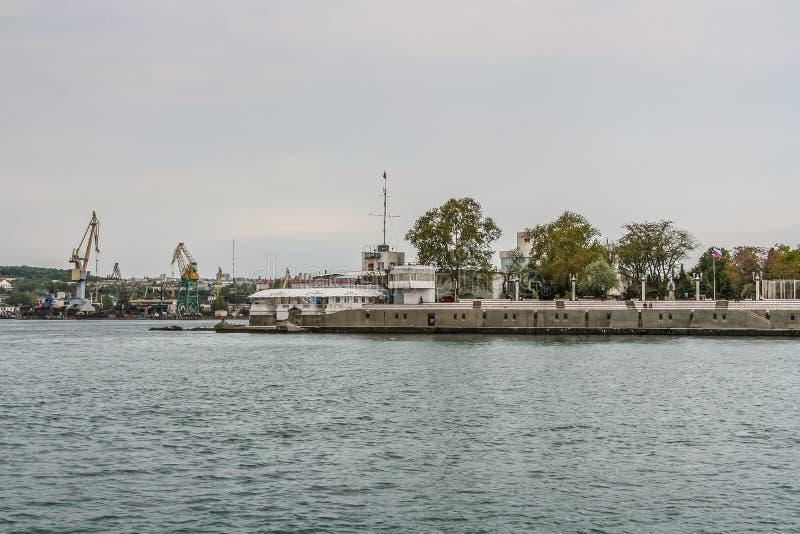 Mównica marynarka wojenna na bulwarze zdjęcie stock