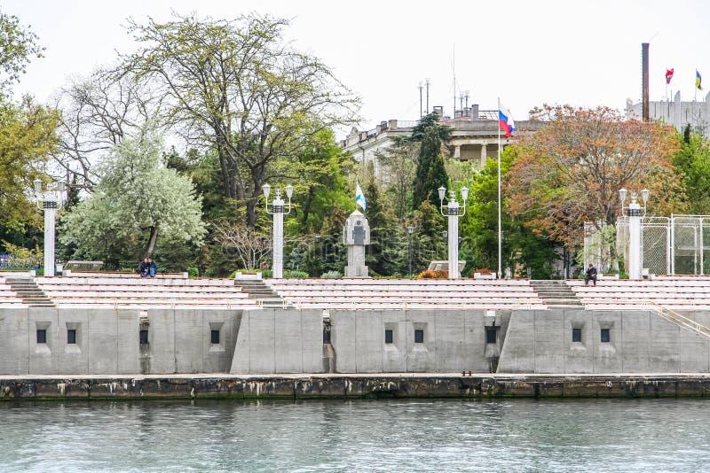 Mównica marynarka wojenna na bulwarze zdjęcia stock