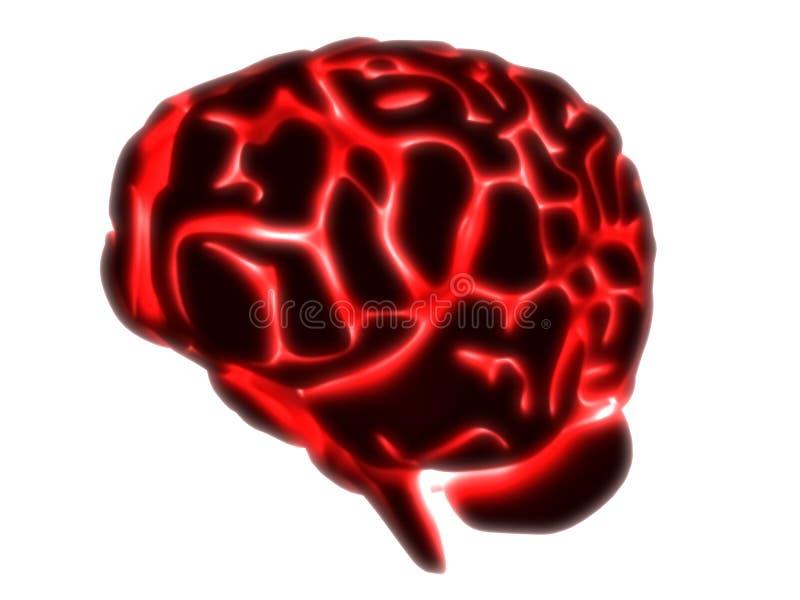 mózg świecić ilustracja wektor