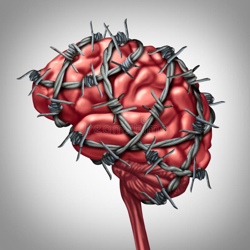 Mózg ból royalty ilustracja