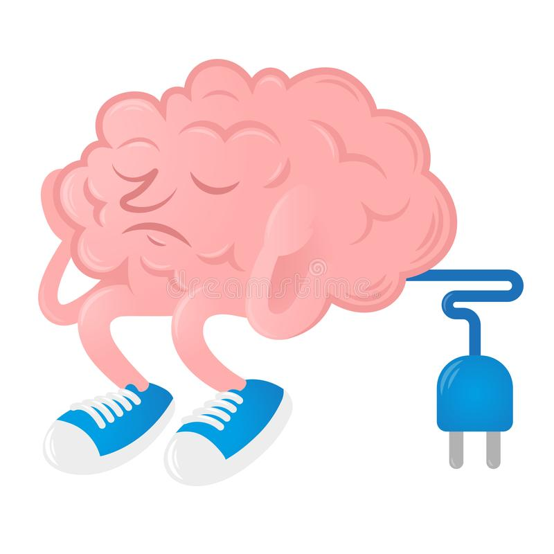 Mózg bez pomysłu ilustracji