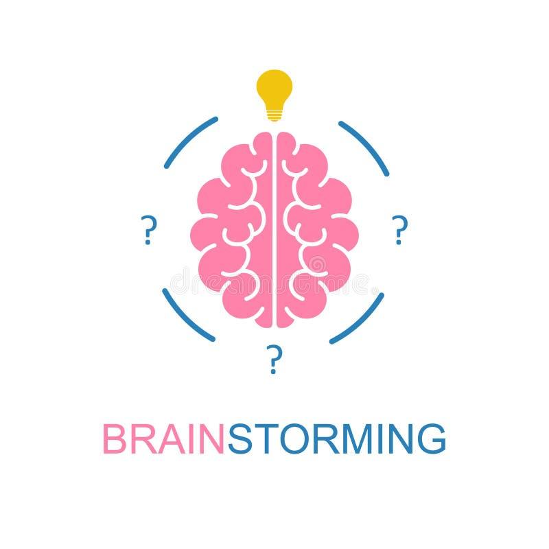 Mózg, brainstorming, pomysł ikona wektor ilustracji