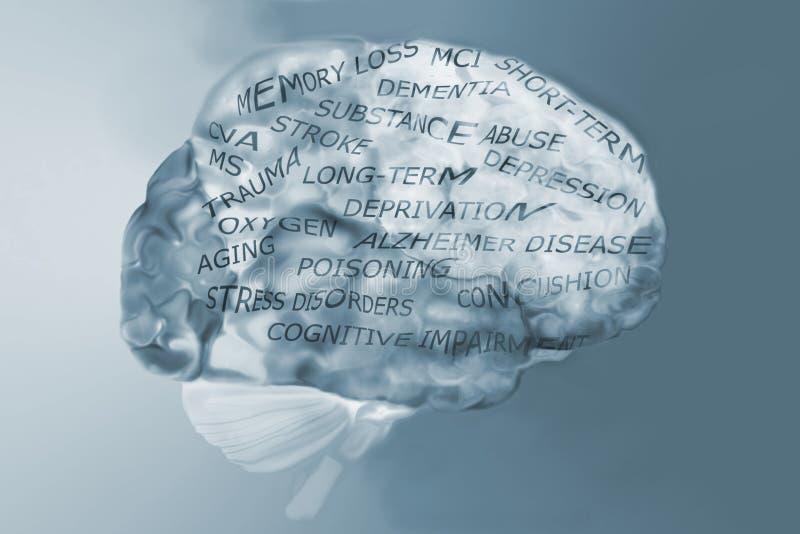 Mózg i pamięci straty przyczyny ilustracji