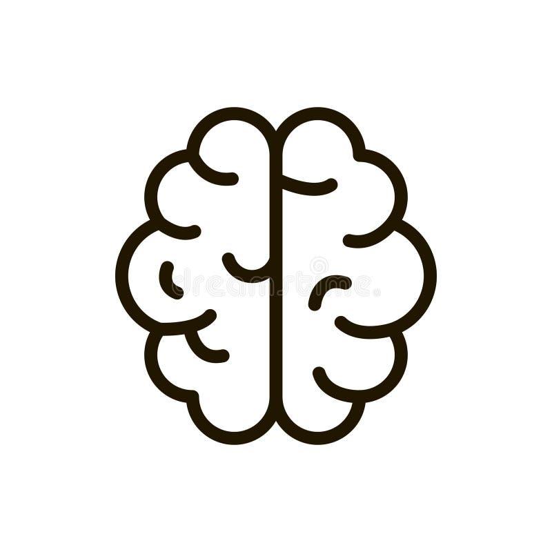 Mózg kreskowa ikona zdjęcie royalty free