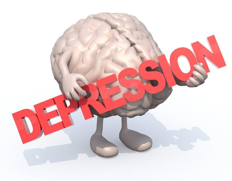 Mózg który obejmuje słowo z sztukami ilustracji