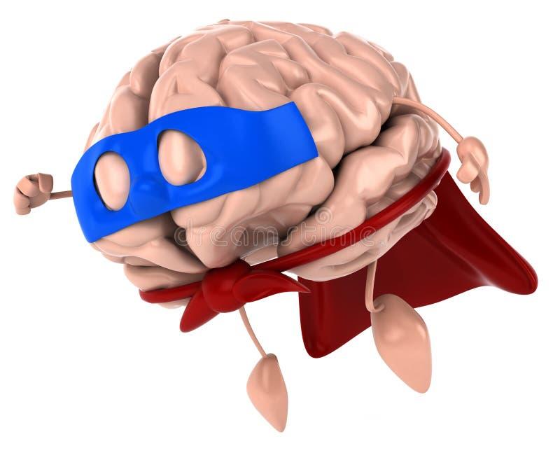 mózg super ilustracja wektor