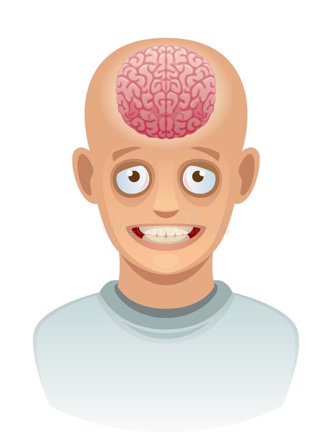 Mózg w głowie royalty ilustracja