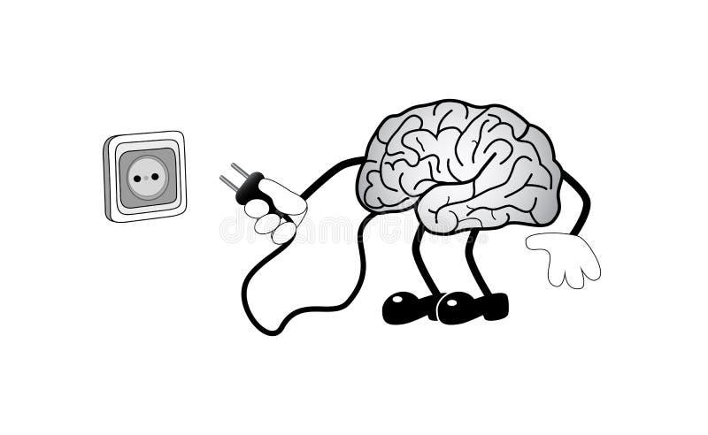 Mózg z nasadką ilustracji
