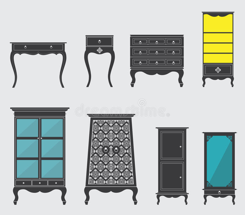 Möbel-Ikone vektor abbildung