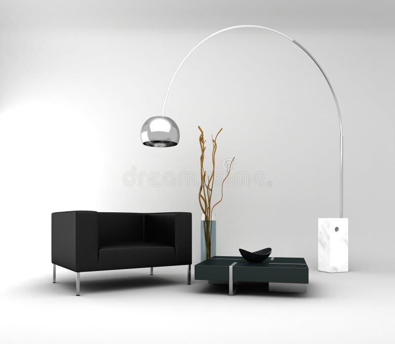 Möbel. Minimaler Innenraum Stockfoto