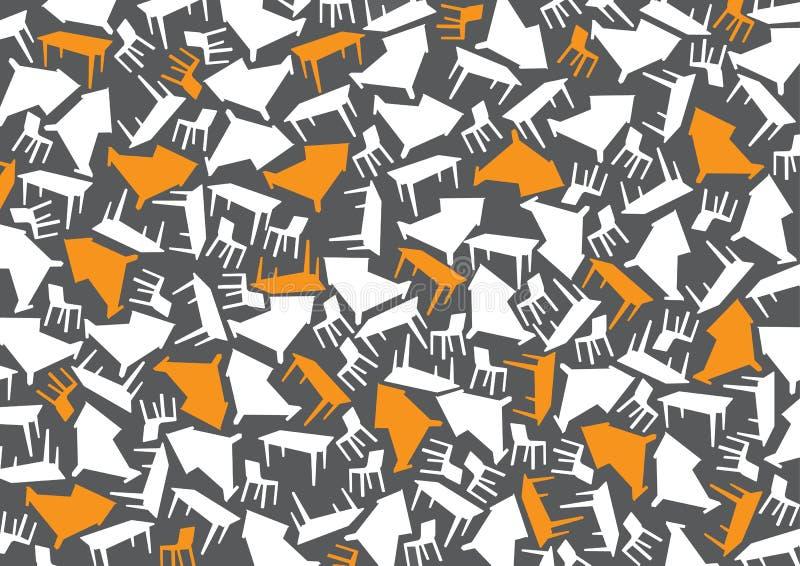 Möbel-Tapete stockbilder