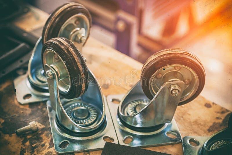 Möbelgießmaschinenrad stockfoto