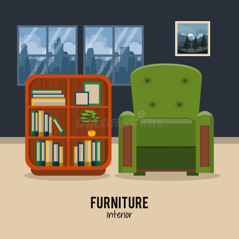 Möbelhauptinnenraum stock abbildung