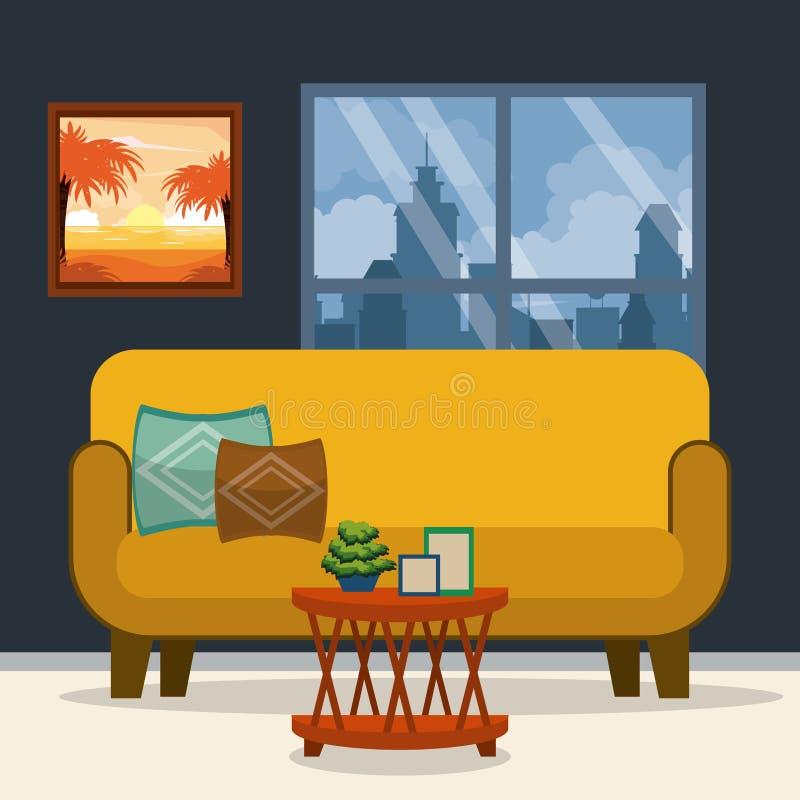 Möbelhauptinnenraum lizenzfreie abbildung