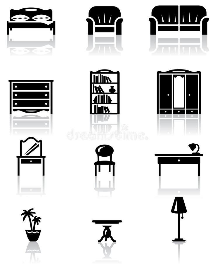 möblemang royaltyfri illustrationer