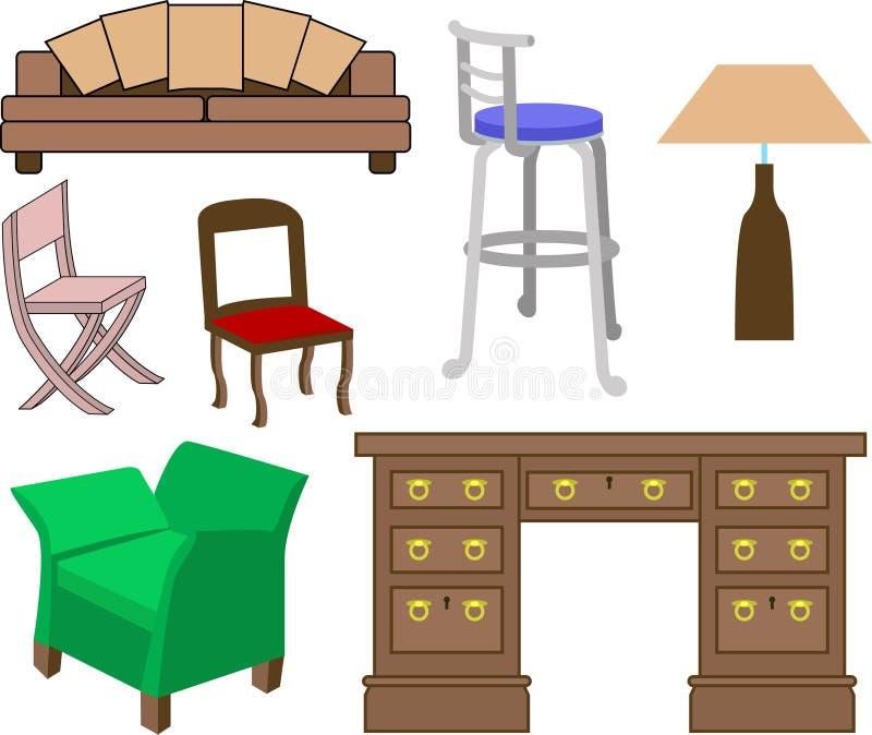 möblemang stock illustrationer