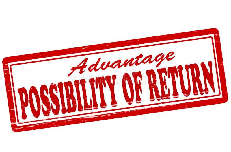 Möglichkeit der Rückkehr stock abbildung