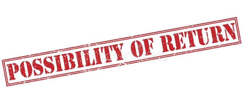 Möglichkeit des roten Rückholstempels lizenzfreie abbildung