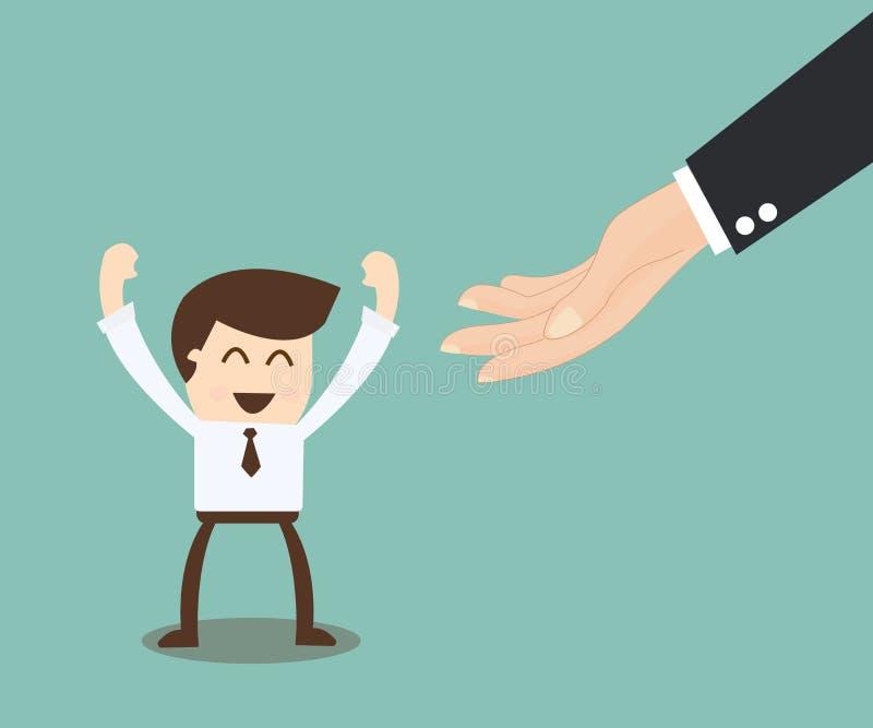 Möglichkeitskonzept - Idee, die wenn das Karriere ladde hilft, hochgeschoben wird lizenzfreie abbildung