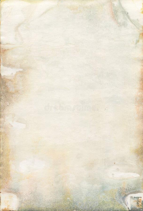 Möglig gammal akvarellpapperstextur arkivbild