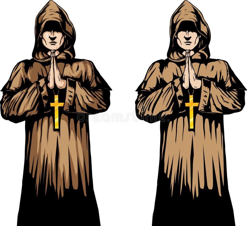 Mönch stock abbildung