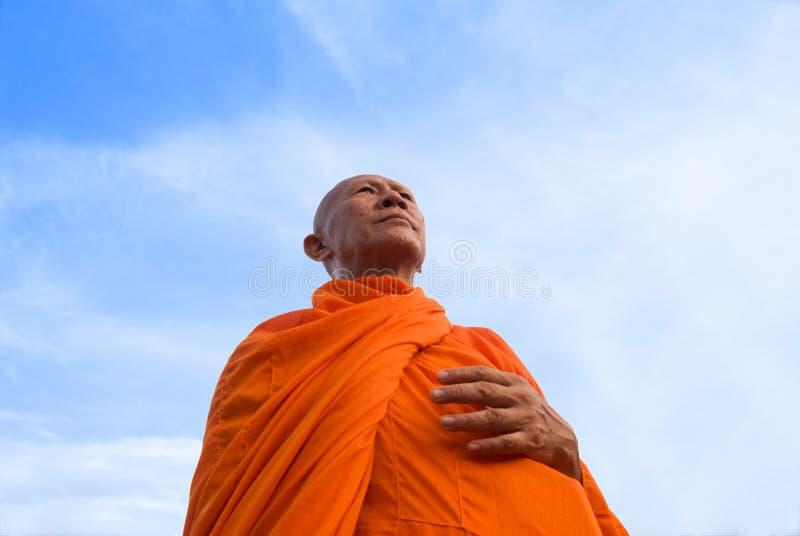 Mönch in Thailand stockbilder