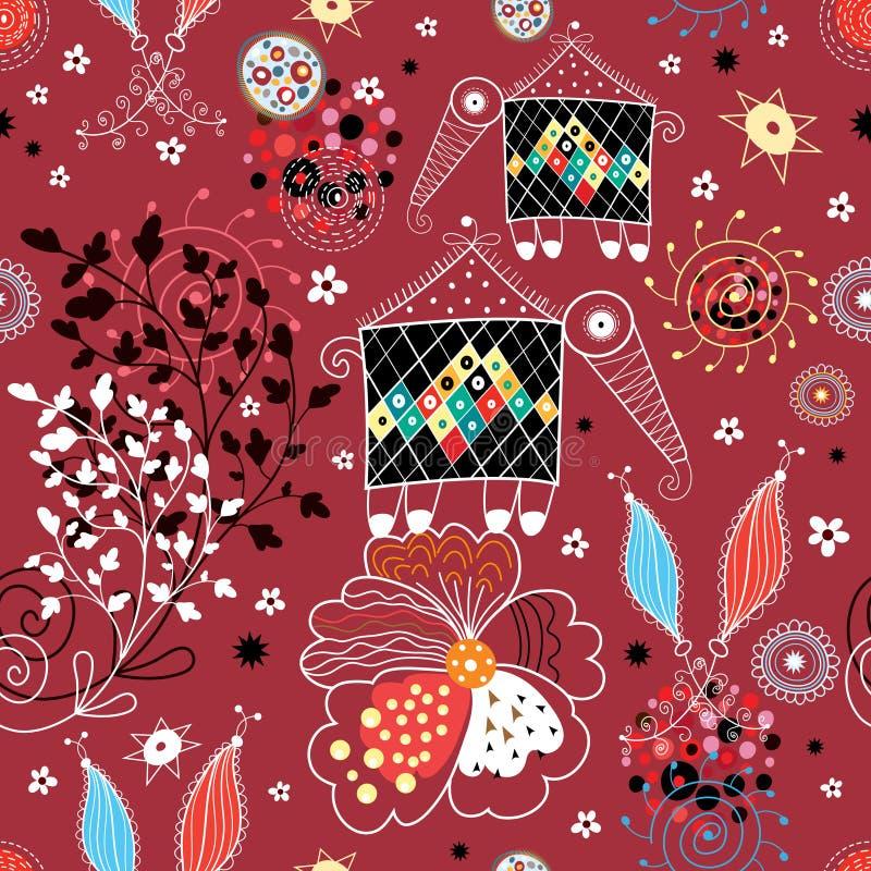 mönsan den sagolika fallen för crea textur royaltyfri illustrationer