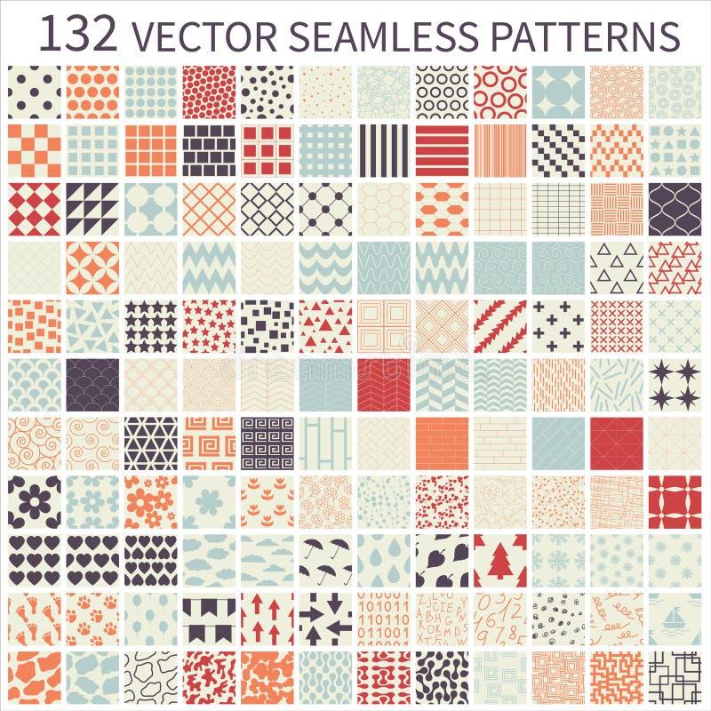 mönsan den seamless seten vektor illustrationer