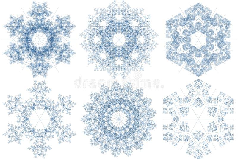 mönsan snowflaken vektor illustrationer