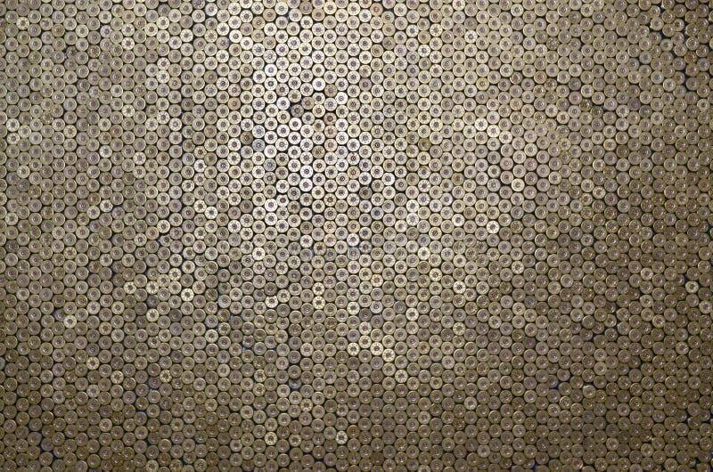 Mönster på 12-gauge patroner för hagelkulor Stängning av jaktgevär Bakgrund för skjutbana eller ammunition arkivfoton