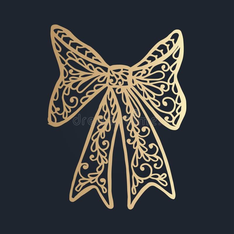 mönstra med blom- snör åt prydnaden för julsamling stock illustrationer