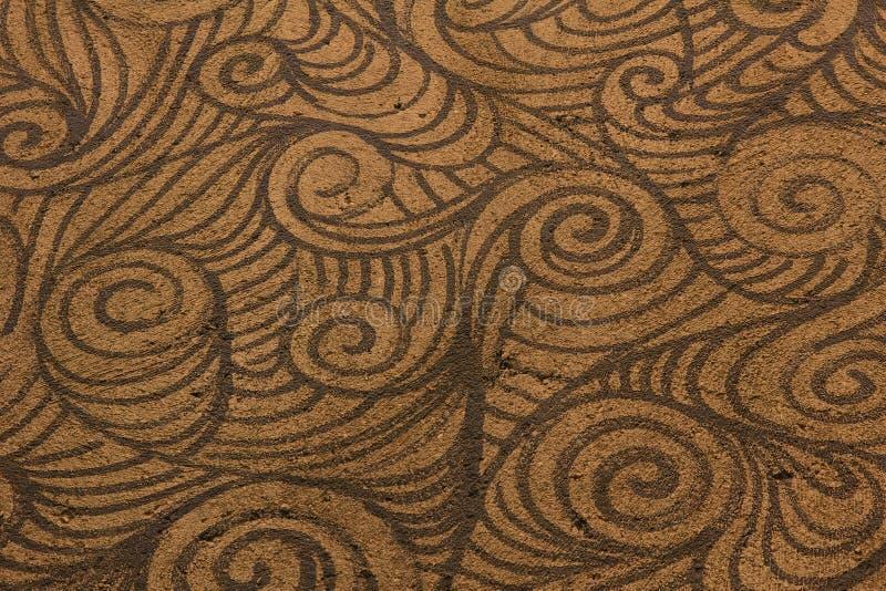 Mönstrad bakgrund för grov bruntspiral stock illustrationer
