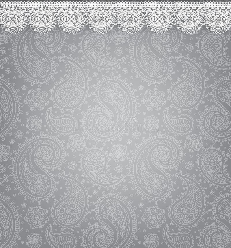 Mönstrad bakgrund med snör åt stock illustrationer